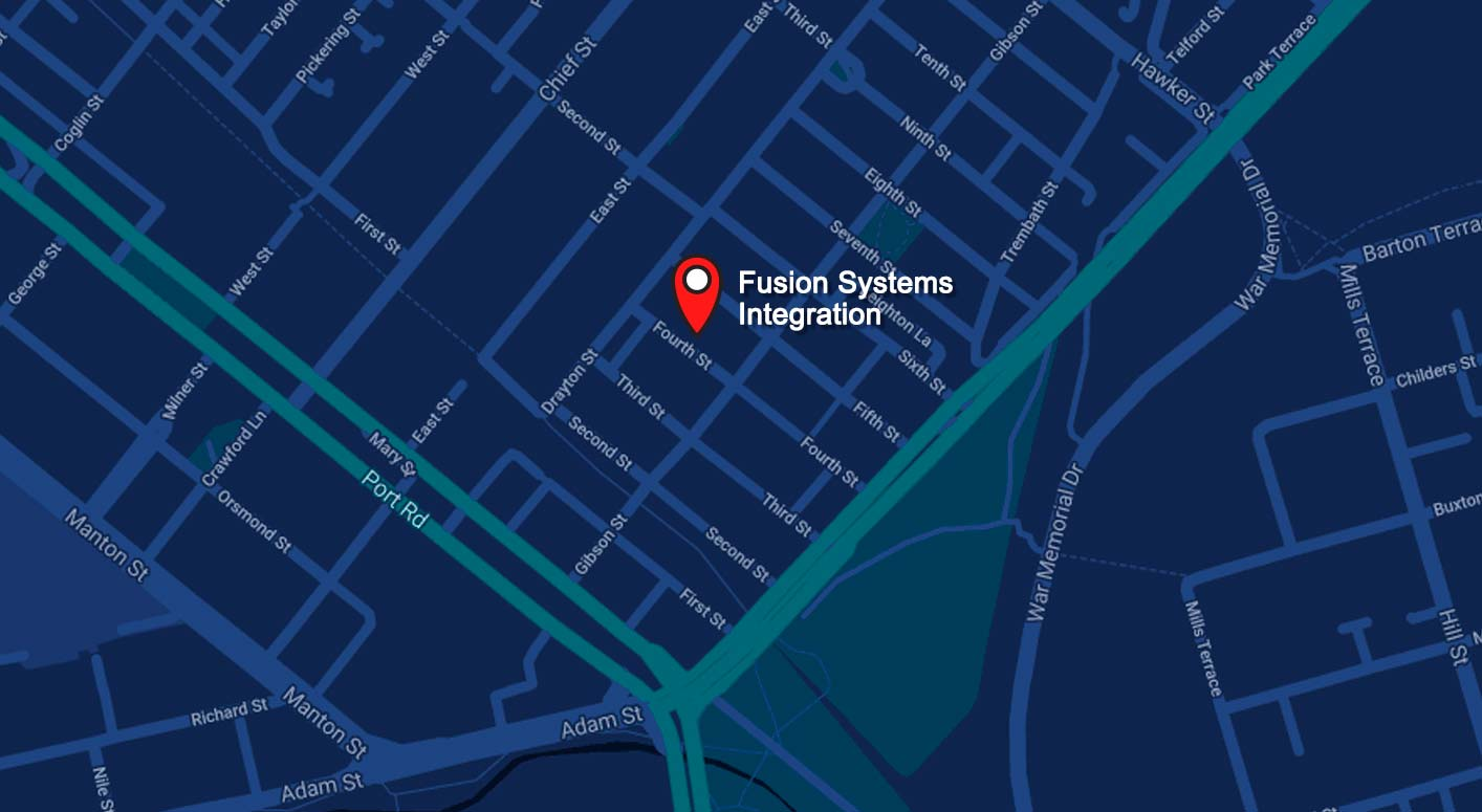 Location map for Fusion SI - Systems Integration and Automation
